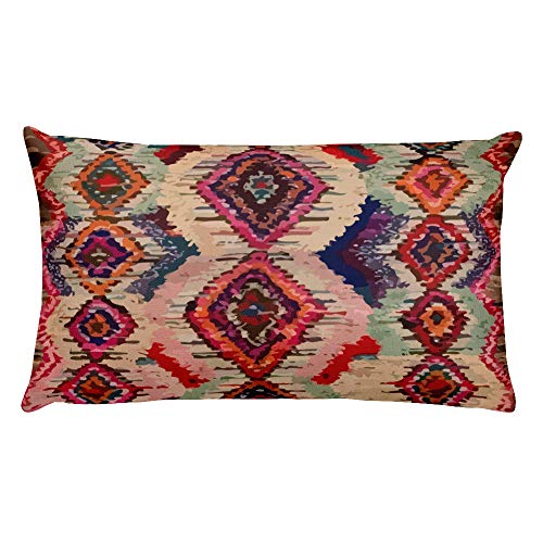 Frenethika Ancestra Premium Colorfull Moroccan Throw Pillow Inspiration with Berber Patterns Throw Pillow