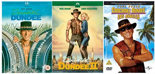 Crocodile Dundee Trilogy 1-3 Complete DVD Movie Collection: Crocodile Dundee / Crocodile Dundee 2 / Crocodile Dundee In Los Angeles + Extras