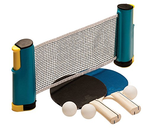 here Table Tennis: Ping Pong Paddles, Balls, and Portable Net & Post Set To Go ()