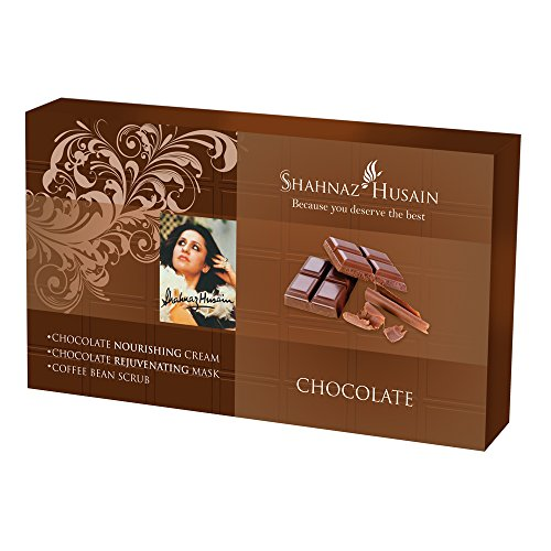 Shahnaz Husain Chocolate Herbal Ayurvedic Skin Care Kit with Chocolate Facial Cream, Chocolate Facial Mask and Coffee Bean Scrub Latest International Packaging (1.1 oz / 30 g)