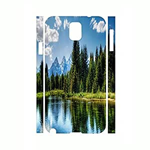 Anti-Scratch Hard Plastic Phone Skin For Samsung Galaxy Note 3 I9005 ?aCustomized Travel Collection Green Tree Pattern