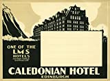 Frame USA Caledonian Hotel, Edinburg -PRIPUB129035 Print 14.75''x20'' by Print Collection in a Un (Canvas Only)