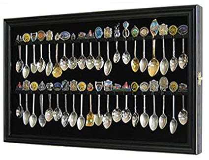 Amazoncom 40 Spoon Display Case Cabinet Holder Rack With Glass