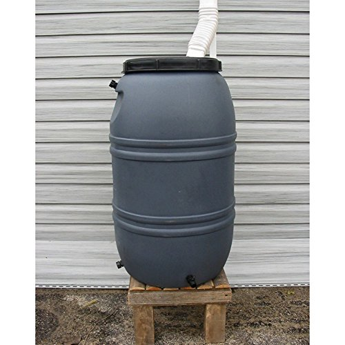 - Upcycle 55 Gallon Gray Rain Barrel