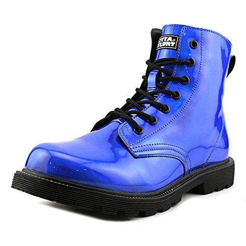 Got Flurt Luna Damen Runde Toe Synthetic Blue Combat Boot Blau Schwarz