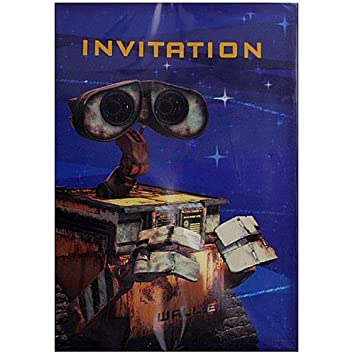 Wall E Party Invitations Amazoncouk Toys Games