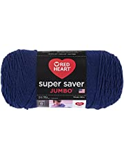 Coats & Clark Red Heart 073650013508 Super Saver Hilo Jumbo, Azul Marino (Soft Navy), 1
