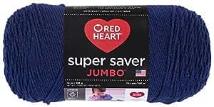 Red Heart  Super Saver Jumbo Yarn, Soft Navy