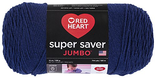 Blue Jackets Shops (Red Heart  Super Saver Jumbo Yarn, Soft Navy)
