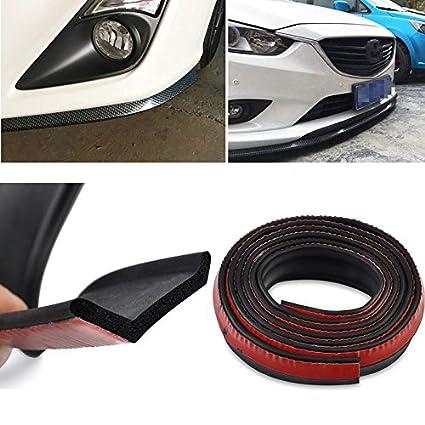 """100/"""" Universal Carbon Fiber Front Bumper Lip Splitter Body Chin Trim Spoiler Kit"""