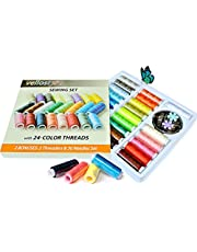 Polyester Sewing Thread Kit with 24 Assorted Colored