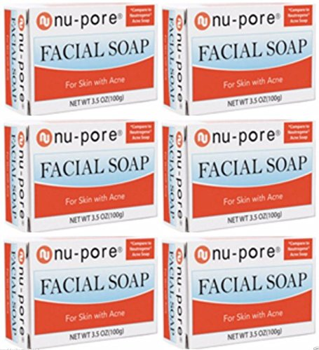 (LOT of 6 NU PORE ACNE SOAP TRANSPARENT FACIAL BAR)