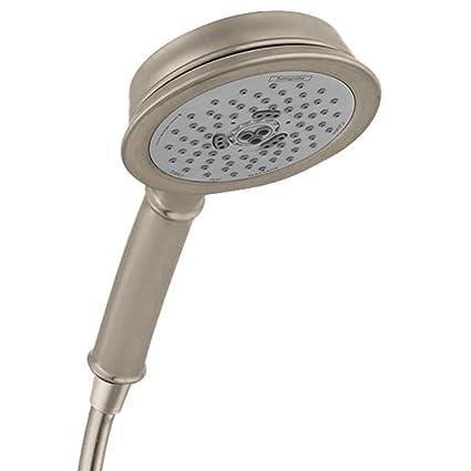 Hansgrohe 04072820 Croma C 100 3-Jet Hand Shower, Brushed Nickel ...