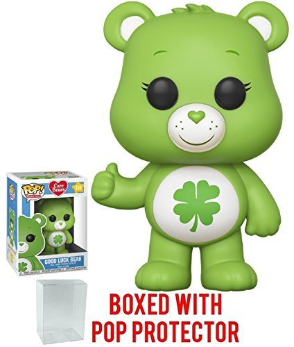 Funko Pop! Animation: Care Bears - Good Luck Bear Vinyl Figure (Bundled with Pop Box Protector Case)]()