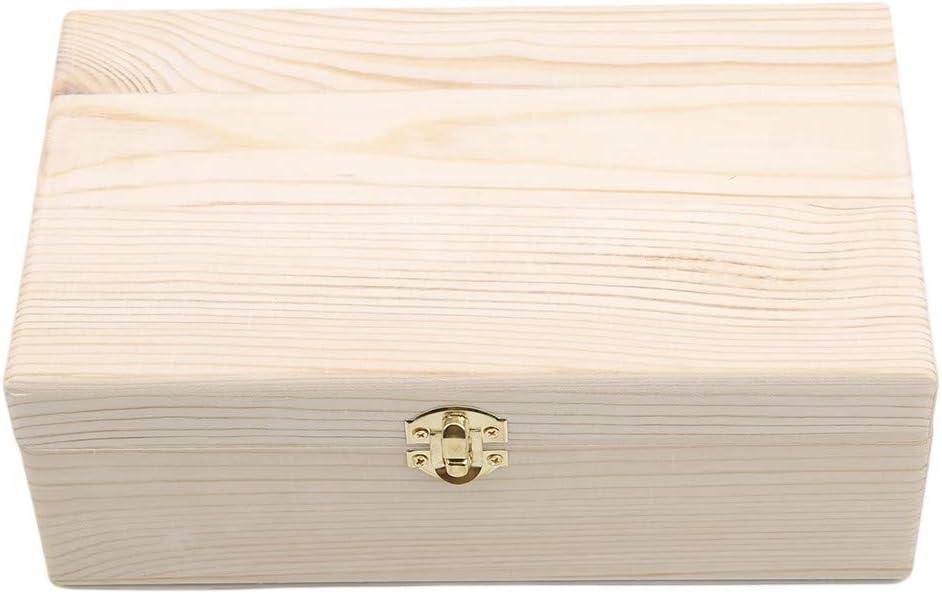 DeliV Caja de madera con tapa de cierre, revistero de documentos ...