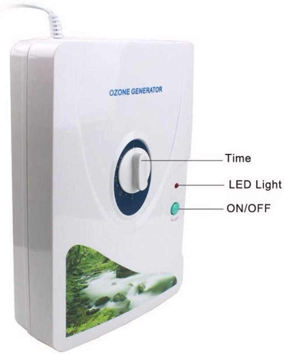 Ozonizador,Generador de ozono dom/éstico para eliminar olores ozonizados Agua Purificadores de aire Ozonizador para frutas y verduras Esterilizador de alimentos Purificador de aire 600mg // h