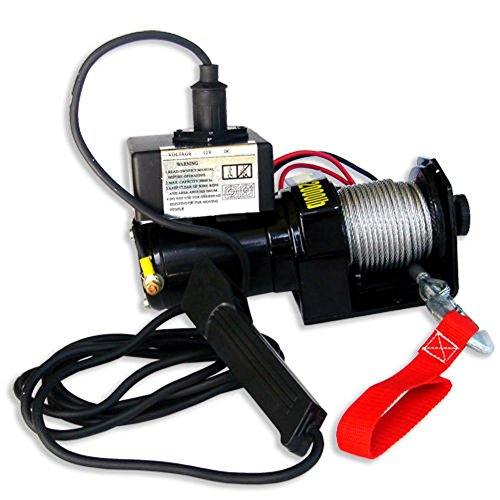 Domeiki 2000lb 12V Electric Winch Pulling Winch 6000lb Rolling 5000lb Marine Trailer Win (2,000 Lb Winch)