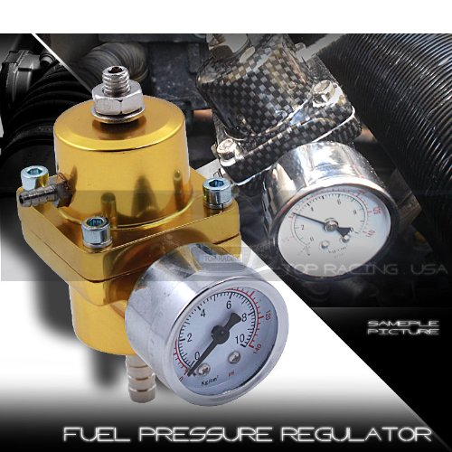 Fuel Pressure Regulator Universal JDM Adjustable Turbo Fuel 140psi Gold