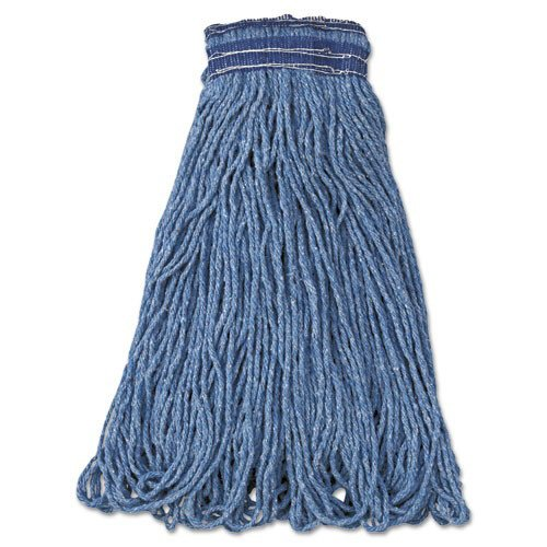 Rubbermaid Commercial FGC15406BL00 6-Piece Swinger Loop XL Cotton/Synthetic Wet Mop Head (Blue)