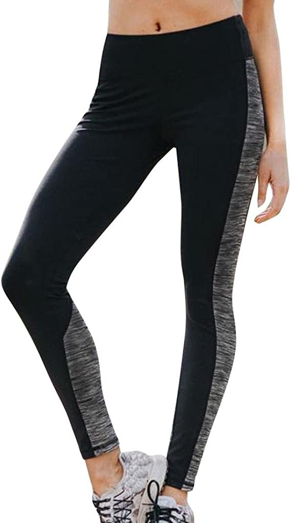 Palestra Donna Pantaloni da Yoga Nero Sportivo Corsa Workout Stretch Leggings