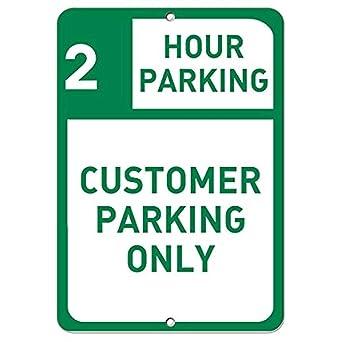 Amazon.com: Cartel de aluminio de metal para aparcamiento de ...