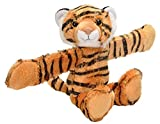 Wild Republic Huggers, Tiger Plush Toy, Slap Bracelet, Stuffed Animal, Kids Toys, 8 inches