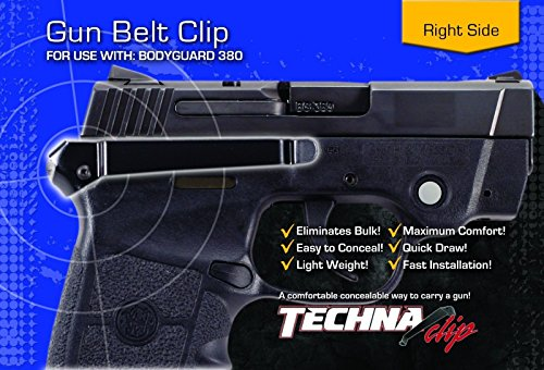 Techna Clip - Smith and Wesson Bodyguard .380 - Conceal Carry  Belt Clip (Right-Side)