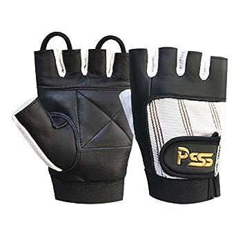 Levantamiento Pesas Acolchado CULTURISMO SILLA DE RUEDAS gimnasio guantes de cuero negro / blanco extragrande (XL): Amazon.es: Deportes y aire libre