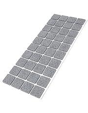Filzgleiter |25x25 mm |quadratisch | Grau | selbstklebend | Möbelgleiter in Top-Qualität (3.5 mm)