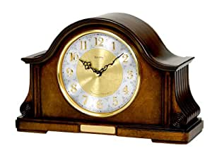 Bulova tambour mantel clock