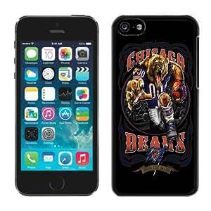 Custom iPhone 5C Chicago Bears 01 Black Screen Phone Case Unique and Luxury Design
