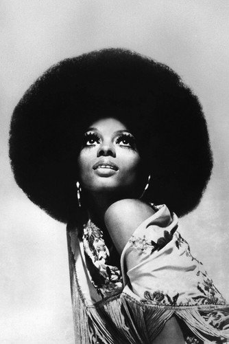 Diana Ross Iconic Afro Hairstyle Stunning Eye Makeup 1970's 24x36 (1970 Makeup)