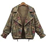 FimKaul Women Plus Size Loose Batwing Sleeve Camouflage Coat Tops Jacket Coat Outwear (XXL, Camouflage)