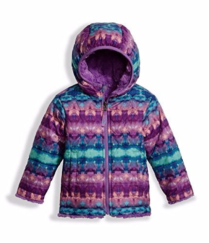 The North Face Toddler Girl's Reversible Mossbud Swirl Jacket - Algiers Blue Fair Isle Print - 3T (Past Season) by THE NORTH FACE