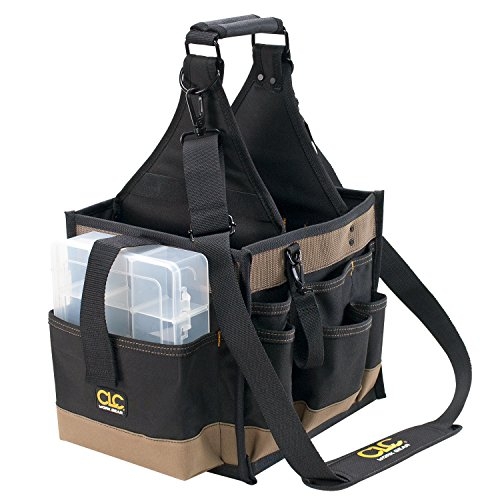 Custom LeatherCraft 1528 22 Pocket Large Electrical and Maintenance Tool Carrier