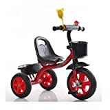Children's tricycles Bicycles Simple and lightweight indoor and outdoor 1.5-6 year old carbon steel red bike