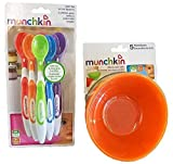 munchkin spoon - Munchkin 5 Pack Bowl and 6 Pack Spoon Set for baby/toddler