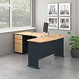 Bush Business Furniture Office Suite SRA057BESU, Beech and Slate