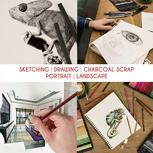 Sketching//Drawing Pad A3//A4//Spiral Bound//Hardback Sketching ForPencil /& Charcoal