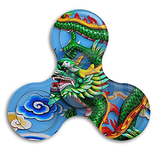 Dragon Age Origins Costumes Jewelry (Green Chinese Dragon Bearing Toy Spin Gyro 360 Fidget Spinner)