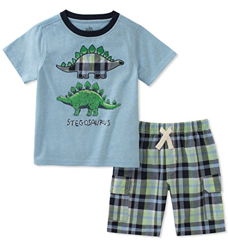 Kids Headquarters Toddler Boys' 2 Pieces Short Set, Blue/Green, 4T by Kids Headquarters