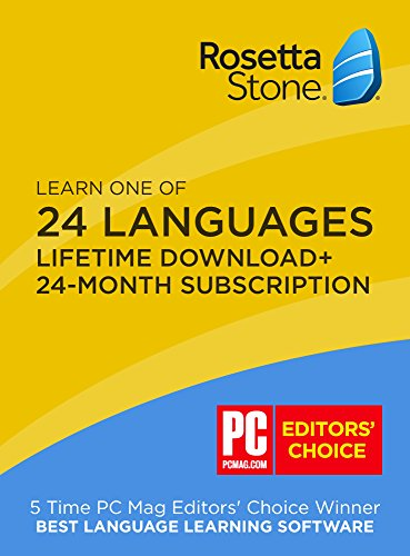 Signed Stone - Rosetta Stone: Learn any language for 24 months on iOS, Android, PC, and Mac - mobile & online access with [BONUS] lifetime download