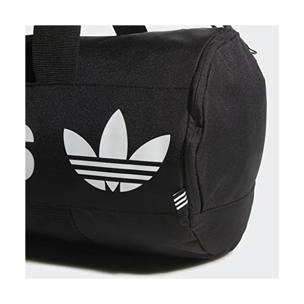 adidas Originals Paneled Roll Duffel Bag, Black, One Size 18