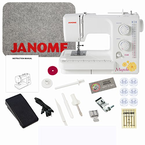 (Janome Magnolia 7318 Sewing Machine with Exclusive Bundle )