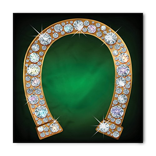 Lunarable Horseshoe Bandana, Diamonds Fashion Treasure, Unisex Head and Neck Tie