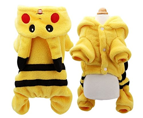 [SIZE XL Funny dog costumes Pokemon Dog Costume New Arrival Dogs Clothes Cute Cartoon Pikachu Design Cosplay Pets Costume Dog Clothing For Cats Puppy Hoodie Winter Warm] (Pikachu Costumes Women)