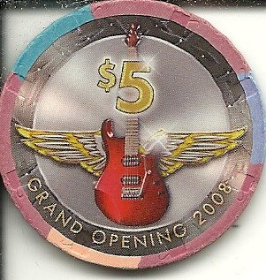 $5 hard rock seminole hotel grand opening 2008 casino chip hollywood - Hotel Hard Seminole Rock Casino