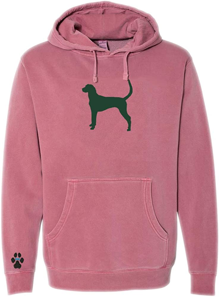 Heavyweight Pigment-Dyed Hooded Sweatshirt with American Foxhound Silhouette