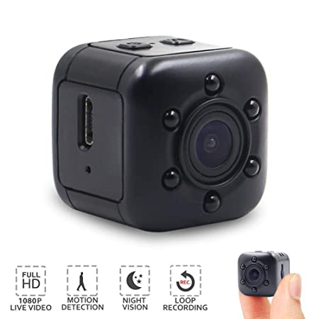 Mini Hidden Camera, Mopora 1080P Portable Security Camera with Night Vision and Motion Detection for Indoor or Outdoor