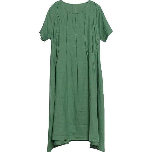 b6d353beb91 Weirk Reifen Ethno Kleider Schick Normallacks Kleider Damen Kurz Ärmel  Locker Kleid Langer Casualkleider  Amazon.de  Bekleidung